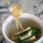 ginger mint tea with honey